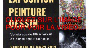 4 VIDEOS ET 48 PHOTOS / LE VENDREDI 08 MARS 2019 UN VERNISSAGE A NE PAS RATER A DIJON LONGVIC DE 18H A MINUIT