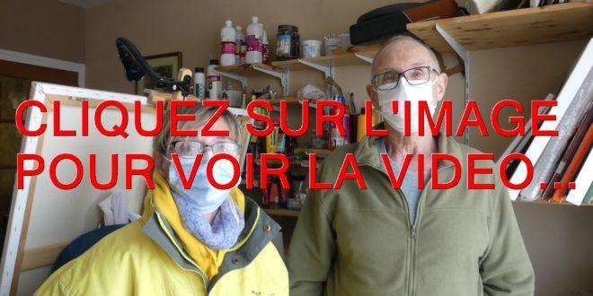 2021 / 01 VIDÉO ET 26 PHOTOS / VALERIE GUILLOTTE DE L'AFM TELETHON NOUS PRESENTE LE PEINTRE JEAN-MICHEL WOSINSKI…